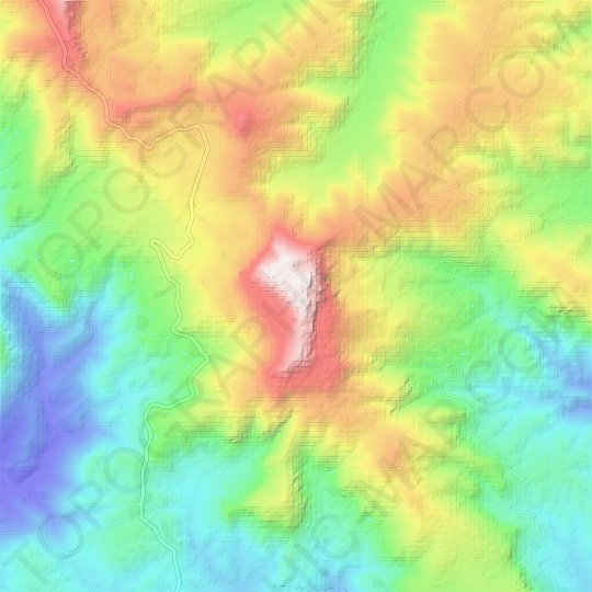 K'Undudo Terara topographic map, relief map, elevations map