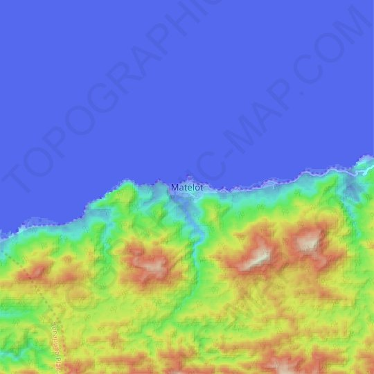 Matelot topographic map, relief map, elevations map