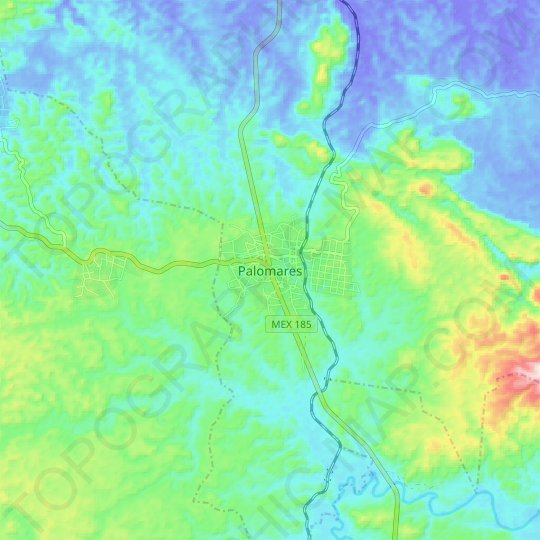 Palomares topographic map, relief map, elevations map