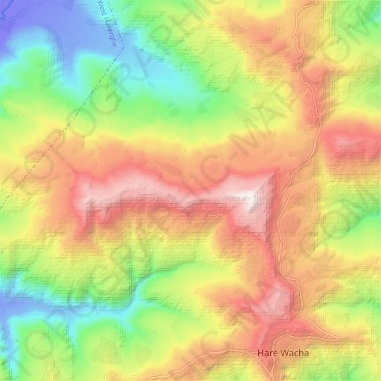 Gondela Terara topographic map, relief map, elevations map