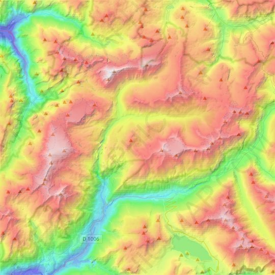 Termignon topographic map, relief map, elevations map